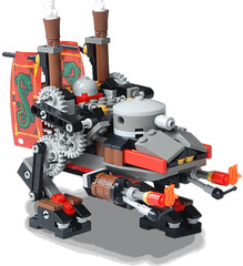 Far-Eastern Light Steam Bi-Walker Mk. L (aillery) Tags: war lego military great steam east flame walker machines far steampunk thrower