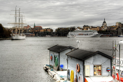 View of Sodermalm, Stockholm. Vista de Sodermalm, Estocolmo.