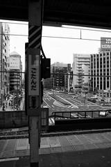 Gotanda station (Walktheworld1) Tags: blackandwhite japan train tokyo trains trainstation yamanoteline