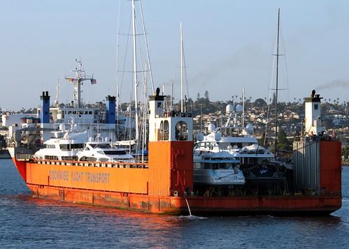 california ca orange ferry harbor san ship yacht transport diego dockwise konomark