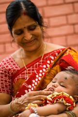 Sushila & New arrival Niharika, SOS Varanasi, Chaubeypur