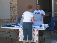 Selling T Shirts (funny strange or funny ha ha) Tags: school oklahoma reunion t town memorial day all weekend small db parade shirts fabulous ok hooker panhandle 2010 debbe