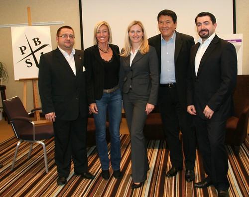 Maciej Maciejewski, Kim Kiyosaki, Ania Rak, Robert Kiyosaki, Michał Świderski
