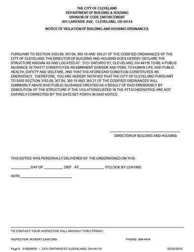 Stanley Block condemnation notice page 5
