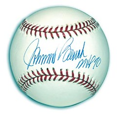 Johnny Bench Signed Baseball (Sportsfan_1) Tags: autographs signed cincinnatireds johnnybench officialmajorleaguebaseball baseballmemorabilia autographedbaseballs signedofficialmlbbaseballs
