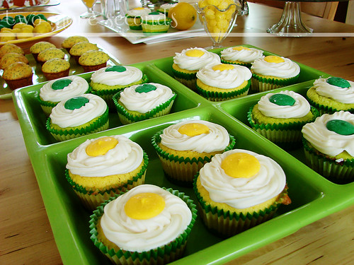 tart lemon and key lime cupcakes