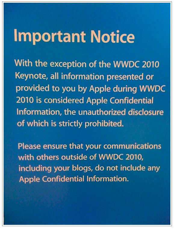 Apple Warns WDDC Devs About Confidentiality