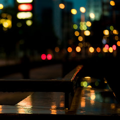 Dreamers die, but dreams survive. They just transfer from one generation to the next one. (iM@n) Tags: city urban color wet rain night nikon bokeh dream eindhoven نور راز ligh شب باران رنگ زرد قرمز شهر d90 اروپا آبی هلند رویا قطره درخشش بارش ياد golshiri جادويي رويايي