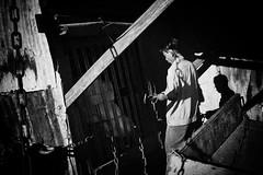* (kspr (not.unique)) Tags: shadow blackandwhite bw man chains nikon smoke documentary vietnam worker saigon streetphotograpy
