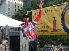 Mayor Adrian Fenty at Bike to Work Day 2010