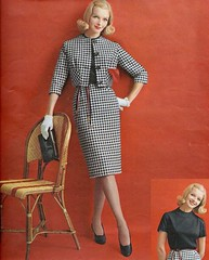 Red, black and white (sugarpie honeybunch) Tags: blackandwhite fashion vintage magazine 60s suit 1960s seventeen
