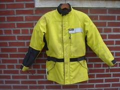 Aerostich Darien: Hi-Viz front (ROSKO.CC) Tags: seth gear riding jacket armor motorcycle darien protection rosko waterproof liner hiviz aerostich sethrosko roskocc
