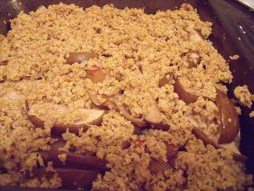 Gluten-Free Rhubarb Pear & Ginger Crisp with Polenta Topping | The ...