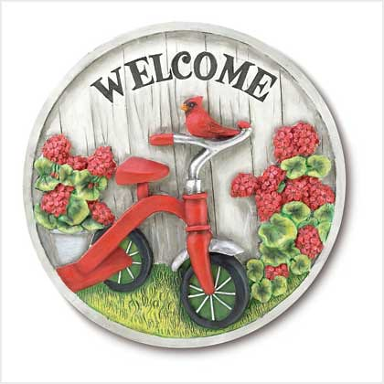 38479 Tricycle Garden Stone Plaque $14.95