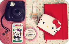 What's inside my bag {Explored} (Teka e Fabi) Tags: moleskine hellokitty cream creme gadgets inmybag instax iphone granado insidemybag tekaefabi onmybag dentrodaminhabolsa