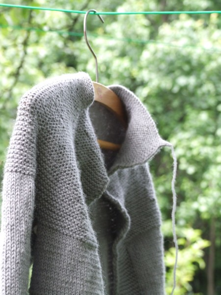 the grey cardi - almost done