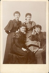 Sisters by Bracy of Wells River, VT - Cabinet Card (snap-happy1) Tags: ne