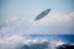 (Naomi Frost - naomi takes photos) Tags: ocean sea wave surfboard wipeout oops splash legrope naomifrost