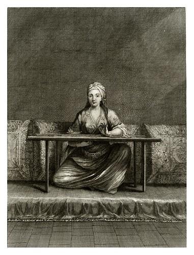 022-Mujer turca bordando-Recueil de cent estampes…1714- M. Le Hay