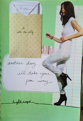 Tightrope (Natty Malik) Tags: music collage magazine lyrics acrylic image note visualjournal tightrope artjournal secretmessage mintgreen notebookpaper janellemonae