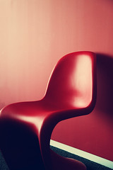 My Little Red Chair... (VinothChandar) Tags: city nyc newyorkcity light red usa india newyork color colour colors america canon photography interesting chair colorful colours vibrant vivid gaudy wait 5d chennai tamilnadu lively photog redchair await togs playoflight vinothchandar