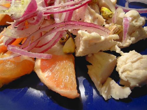 insalata di pollo e pompelmi