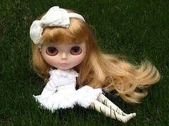 I love to sit on the grass