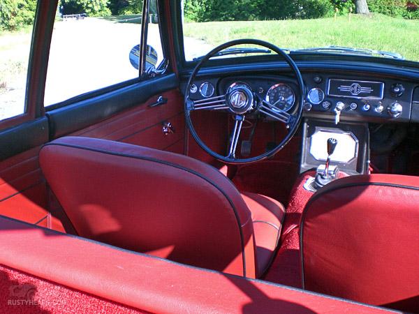 Interior, 1967 MGB GT