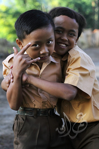 School kids of Blawan, Sempol, Bondowoso, East Java, Indonesia