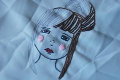 Pouty Girl (Erina Sachi) Tags: original work embroidery progress stitching pouty