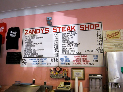 Zandy's Steak Shop Menu