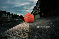 The Basket Ball (Mortuza Alam) Tags: road red sky basketball canon ball eos flash wideangle footpath strobe dunlop 18mm flashes flickraward flickrunitedaward