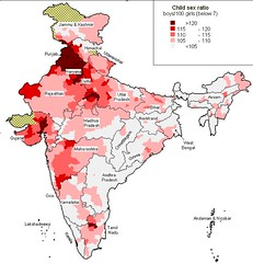 Child sex ratio in India