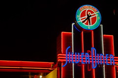 Silver Diner (ajemm) Tags: sign night canon lights neon sigma diner fave greenbelt 500d 1770mm t1i