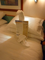P1030442 - towel cobra (Ambernectar 13) Tags: cruise day2 vacation holiday art night evening october origami towel cruiseship friday royalcaribbean 2010 towelart exploreroftheseas towelorigami newenglandcanada cruisecompass