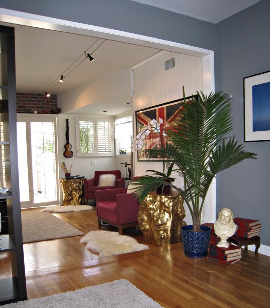 living room divider+rock n' roll game room+video games