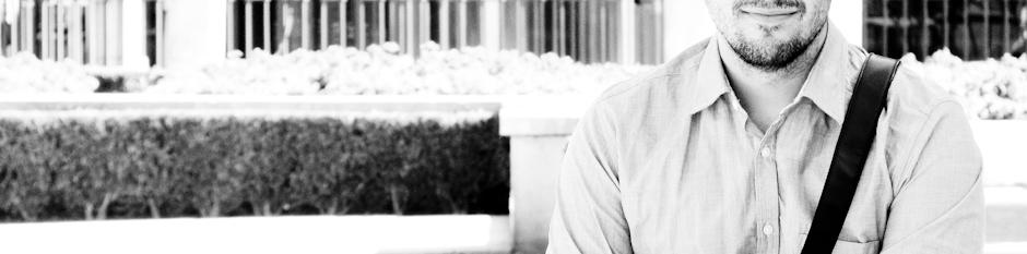 Fotografía en blanco y negro de Hugo, el autor de infa.me
