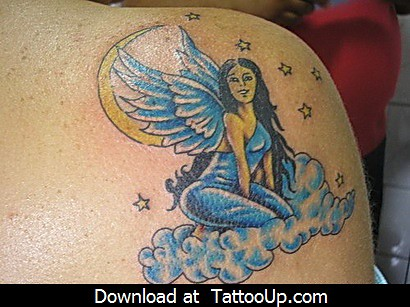 beckham angel tattoo. david eckham angel tattoo
