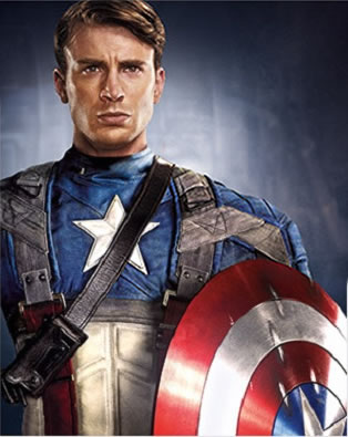 Thumb First photo of Chris Evans as Captain America
