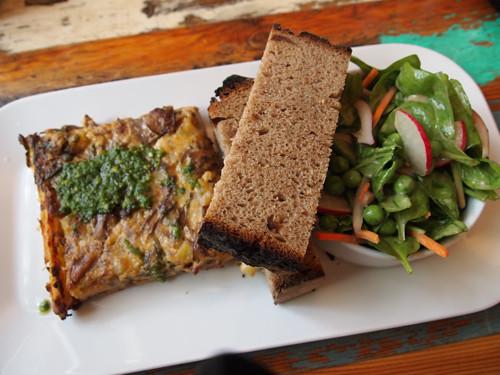 mushroom & potato quiche