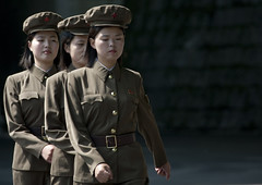 Female soldiers - North Korea (Eric Lafforgue) Tags: girls people woman color colour horizontal female soldier army person women war uniform asia femme korea communism cap soldiers casquette asie coree guerre personne couleur humanbeing militaire soldat communisme femmes northkorea armee lineup uniforme inarow dprk coreadelnorte nordkorea colorpicture waistup 3917 democraticpeoplesrepublicofkorea    coreadelnord  etrehumain enrang coreedunord  insidenorthkorea  rpdc  alignes kimjongun coreiadonorte  republiquepopulairedemocratiquedecoree cadragealataille