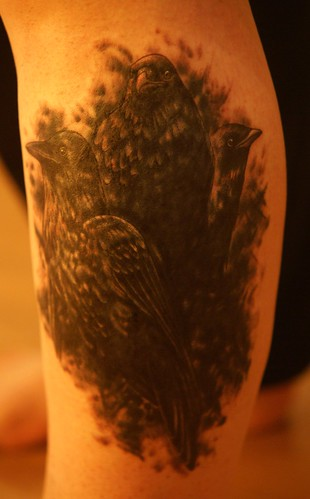 Raven tattoo by autumnal fires. From autumnal fires