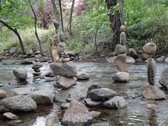 Boulder Cairns (Carly & Art) Tags: summer sculpture art water rock stone creek colorado natural boulder cairn