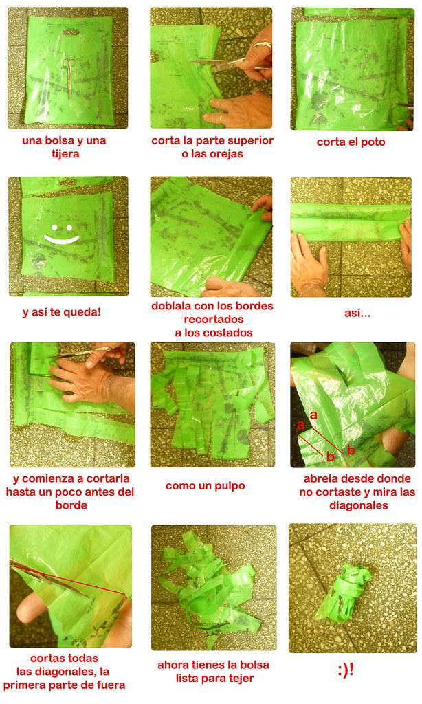 Cómo hacer un ovillo de bolsa para tejer