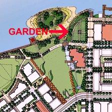 community demonstration garden, Southeast False Creek, Vancouver (planning by Mark Holland, HB Lanarc, image via PWL Partnership)