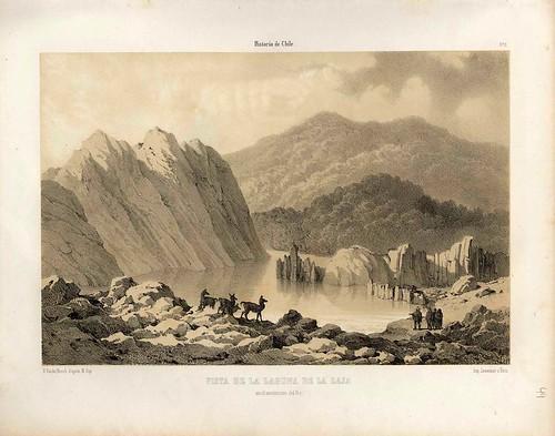 014-Vista de la laguna de la Laja-Atlas de la historia física y política de Chile-1854-Claudio Gay