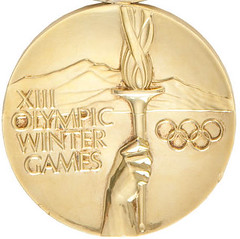 1980 Lake Placid Olympic Hockey gold medal obverse