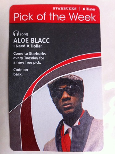 Starbucks iTunes Pick of the Week - Aloe Blacc - I Need A Dollar