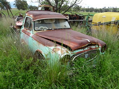 abandoned rusty peugeot 403