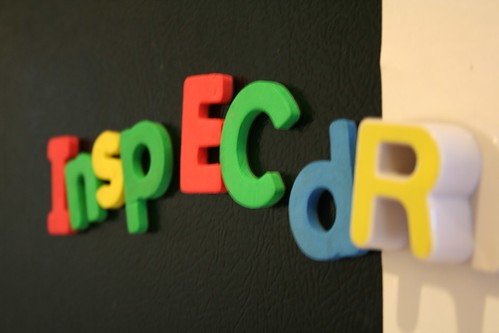"Six-year-old's creative spelling of ""inspector"""